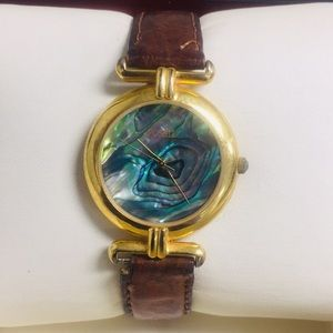 Vintage Fossil Abalone watch